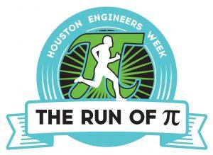 Houston Engineers Week - Run of π logo
