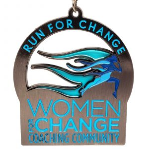 Virtual Strides Partner Virtual Race - Run for Change 2020 medal