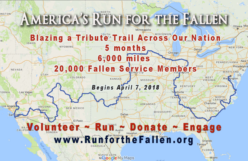 America's Run for the Fallen - Map