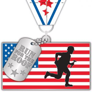 Virtual Strides Virtual Race - Run For The Roof medal