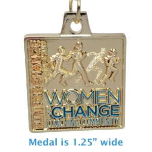 "Virtual Strides Partner Virtual Race - Running for Change 1.25"" medal"