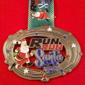Virtual Strides Partner Virtual Race - Run Run Santa 1 Mile Medal