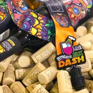 Virtual Strides Partner Virtual Race - Sangria 5k Dash Wine Stopper Medal