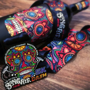 Virtual Strides Partner Virtual Race - Sangria 5k Dash Day of the Dead Medal