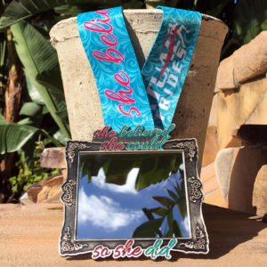 Virtual Strides Virtual Race - She Believed She Could So She Did Framed Mirror Medal