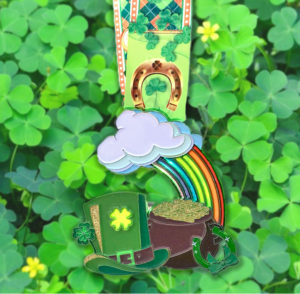 Virtual Strides Partner Virtual Race - St Paddy's Day 5k Lucky Charms medal