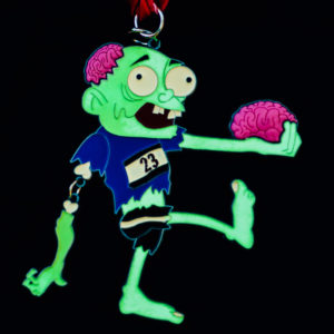 Virtual Strides Virtual Race - The Striding Dead Glow in the Dark Zombie Medal