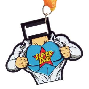 Virtual Strides Partner Virtual Race - Super Dad Bottle Opener Medal