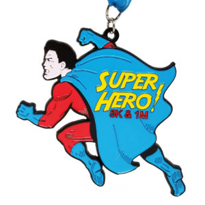 Virtual Strides Partner Virtual Race - Superhero Run 2018 Medal