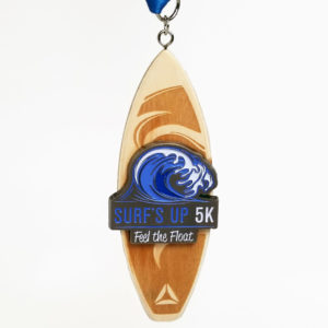 Virtual Strides Virtual Race - Surf's Up 5K feel the float surfboard medal