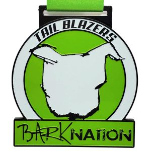 Virtual Strides Partner Virtual Race - Bark Nation Tail Blazers medal