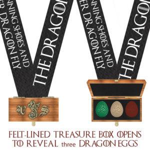 Virtual Strides Virtual Race - The Dragon Within Treasure Box Dragon Eggs Medal