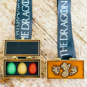 Virtual Strides Virtual Race - The Dragon Within Treasure Box Dragon Eggs Medal