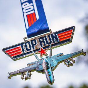 Virtual Strides Virtual Run - Top Run F/A-18F Super Hornet virtual race medal
