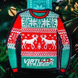 Virtual Strides Virtual Run - Ugly Sweater Christmas holiday medal