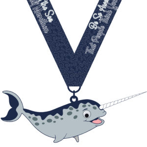 Virtual Strides Virtual Race - Unicorn of the Sea Medal