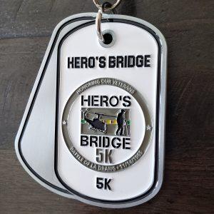 Virtual Strides Virtual Race - Vietnam Veterans 5k - Hero's Bridge medal