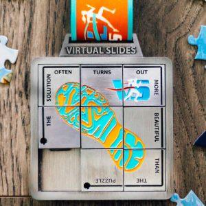 Virtual Strides Virtual Run - Virtual Slides virtual race slide puzzle medal