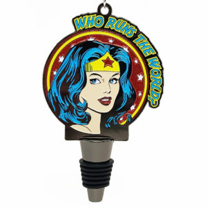 Virtual Strides Partner Virtual Race - Who Runs The World Wonder Woman Wine Stopper Medal