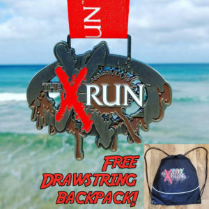 Virtual Strides Virtual Race - The X Run medal and backpack